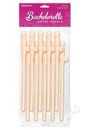 Bachelorette Party Favors Dicky Sipping Straws - Vanilla